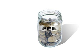 fee  savings money in jar
