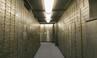 Bank Vault Safe Deposit Box