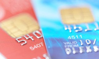 two credit cards with shallow DOF